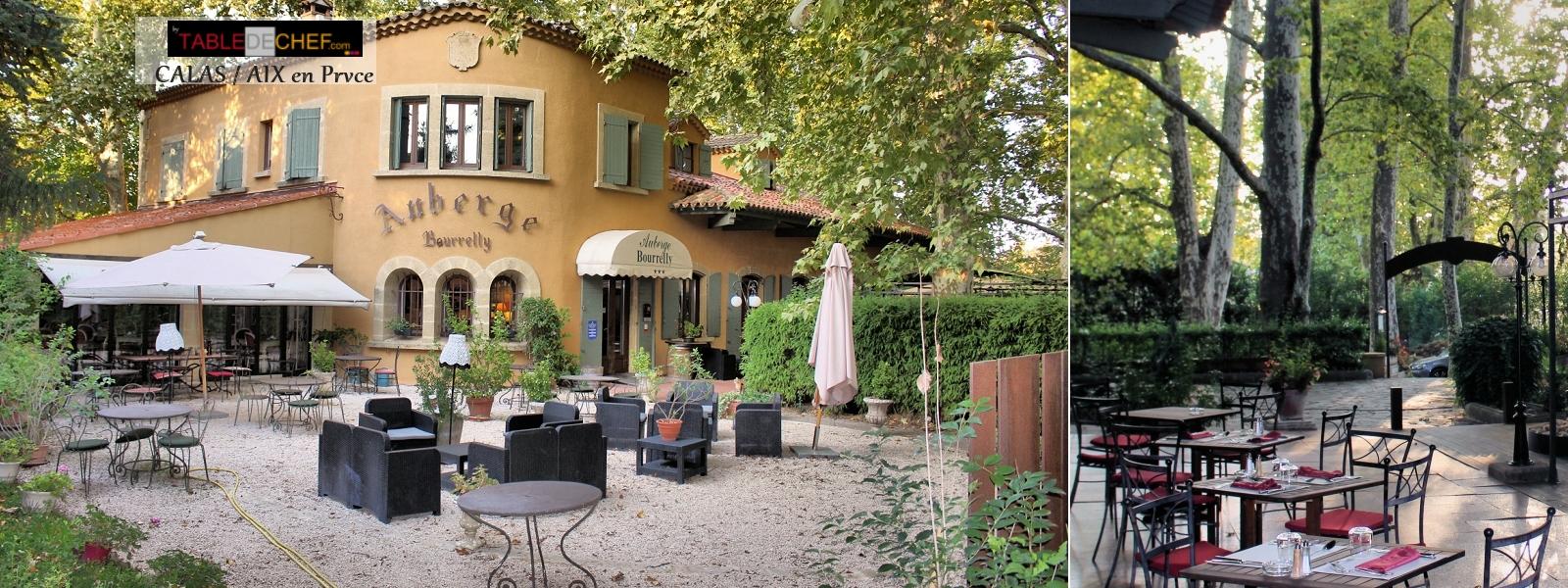 Auberge Bourrelly restaurant Calas pays d