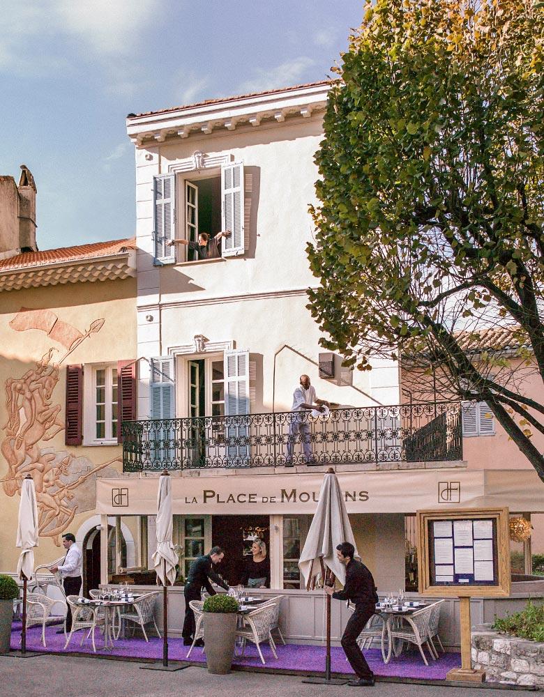 Restaurant Mougins Denis Fetisson La Place de Mougins Côte d