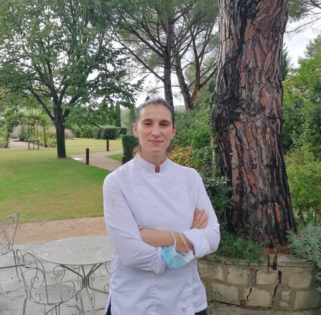 Julie CHAIX Cheffe executif La Benvengudo Restaurant gastronomie & Bistro Les Baux de Provence